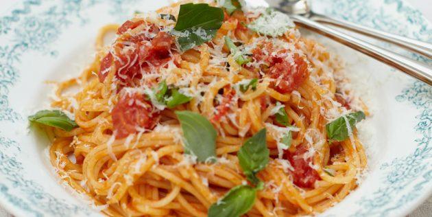 トマトソースでレシピペースト
