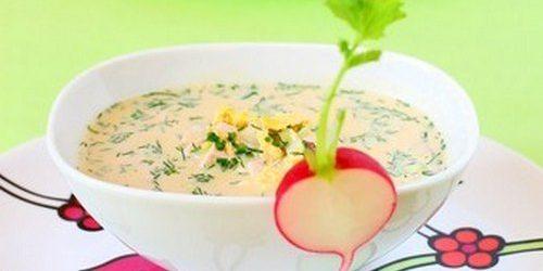 Opskrifter OkroShki: Ocroke med krabbe spisepinde