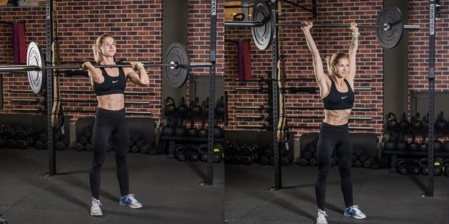 어깨에 운동 : 아령 서있는 서있는
