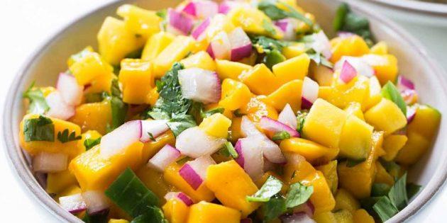 Salsa da mangoes.