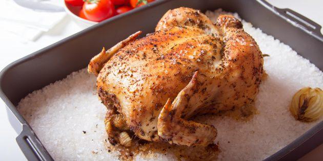 Peitos de frango com crosta de amêndoa crocante