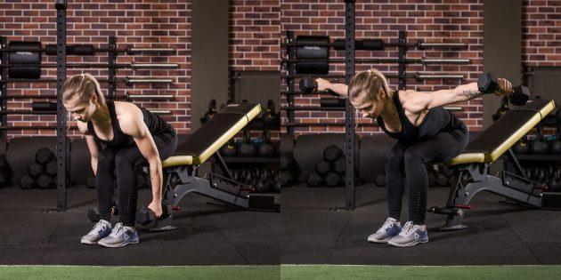 어깨에 운동 : 팔뚝의 사이드 바에 대한 액세스