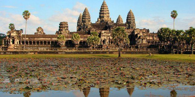 Территория Азии не зря привлекает туристов: археологический парк Ангкор, Камбоджа