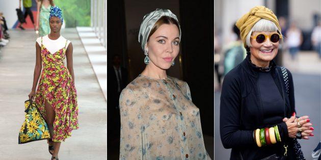 Модные аксессуары 2019года: тюрбаны
