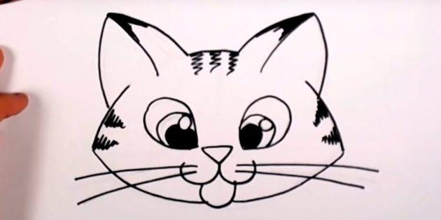 Hogyan kell rajzolni egy macska fang rajzfilm stílusban