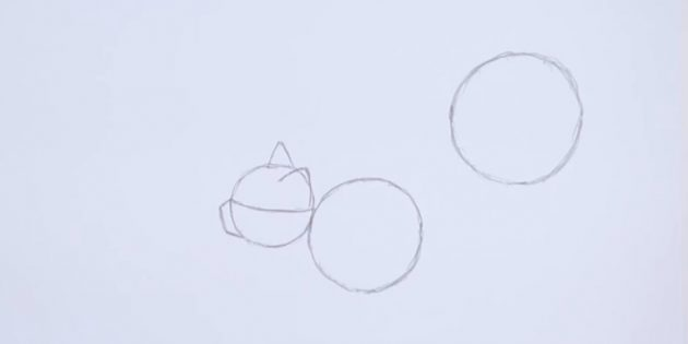 On the right above also depict a larger circle than the previous one
