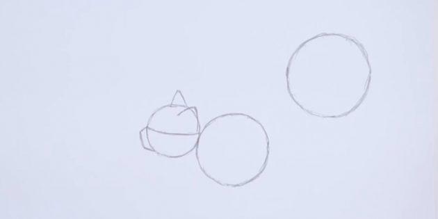 På højre side skildrer også en større cirkel end den foregående