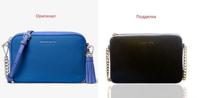 Оригинал и подделки сумок Michael Kors