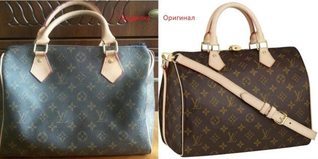 Оригинал и подделки сумок Louis Vuitton: