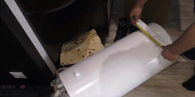 Измерьте габариты водонагревателя