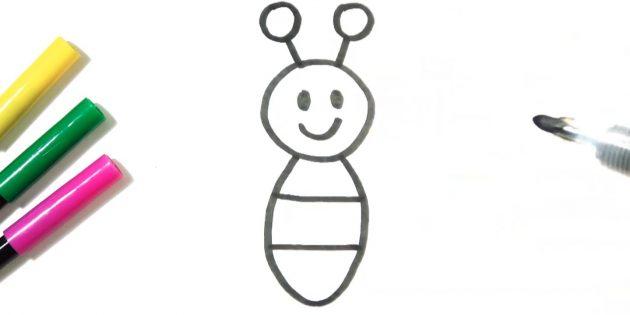 Vẽ một bộ ria mép trên đầu bướm