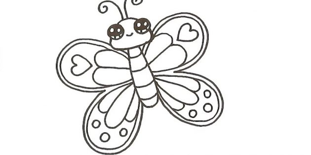 Украсьте крылья бабочки справа