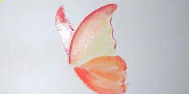 Жоғарғы қанаттың контурын дөңгелетіп, тағы бір солға салыңыз