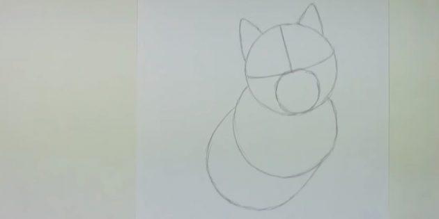 Desenhe outro círculo e figura semi-sozinha