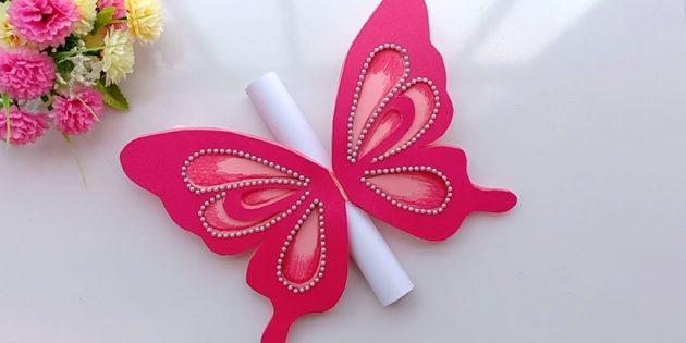 Wie man Postkarten mit Schmetterling zum Geburtstag mit deinen eigenen Händen herstellt
