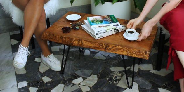 چگونه می توان یک میز قهوه را از تخته ها انجام داد