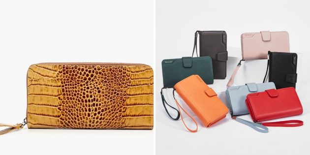 誕生日のためにママを与えるもの:明るい財布またはクラッチ