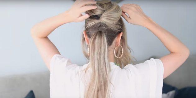 Причёски на длинные волосы: сделайте ещё два хвоста