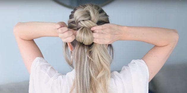 Причёски на длинные волосы: заведите волосы в сторону