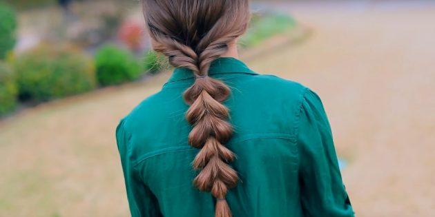 Причёски на длинные волосы: низкий объёмный хвост