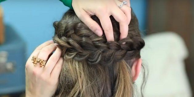 Закрепите косы