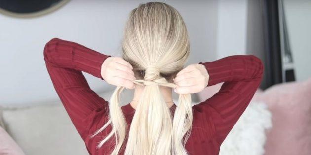 Добавьте волосы к прядкам