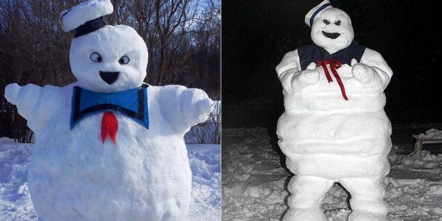 Снежные фигуры из снега