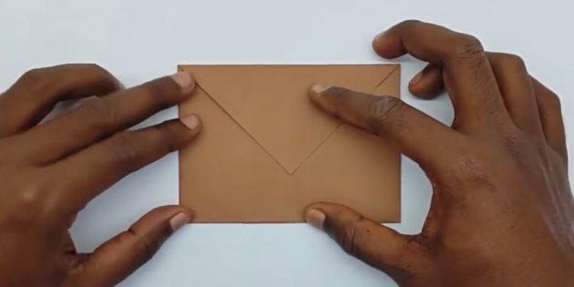Bir Zarf Nasıl Yapılır: Sol Köşe Oluşturma