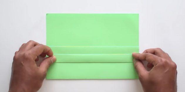 конверт своими руками без клея: поднимите полоску