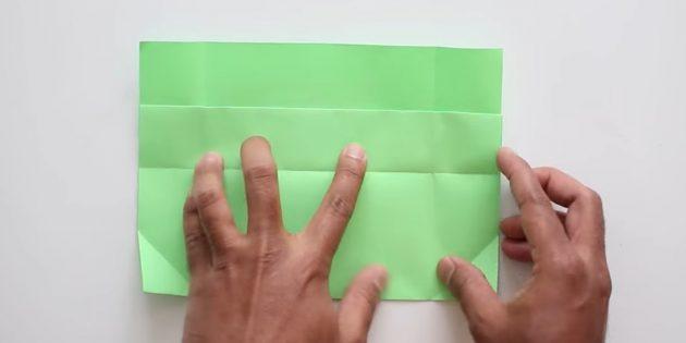 конверт своими руками без клея: разогните нижнюю часть