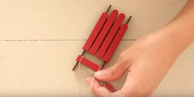Glue all sticks and make a loop