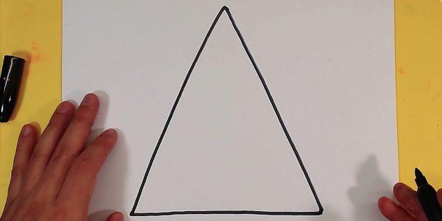 삼각형을 그립니다