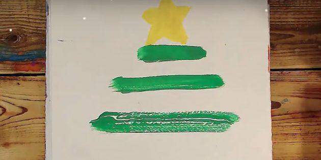 Рождестволық ағашты қалай салуға болады: Екі жолақты қосыңыз