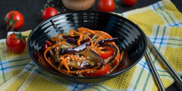 Resipi Salad Mudah: Salad terung di Korea