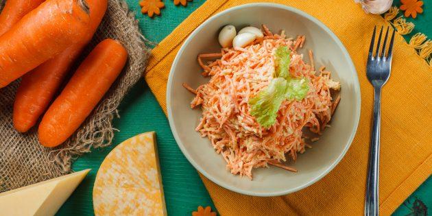 Resipi Salad Mudah: Salad Carrot, Keju dan Bawang Putih