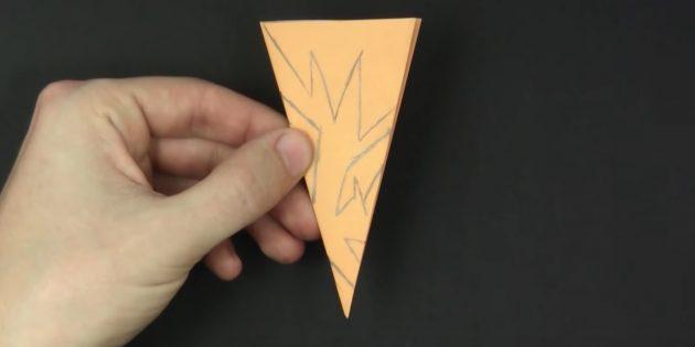 Bagaimana untuk memotong kepingan salji kertas dengan tangan anda sendiri: Lukiskan corak
