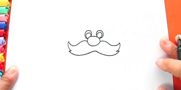 サンタクロースを描く方法:Dolisite口ひげ