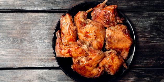 Как приготовить кролика в духовке с мёдом и соевым соусом: простой рецепт