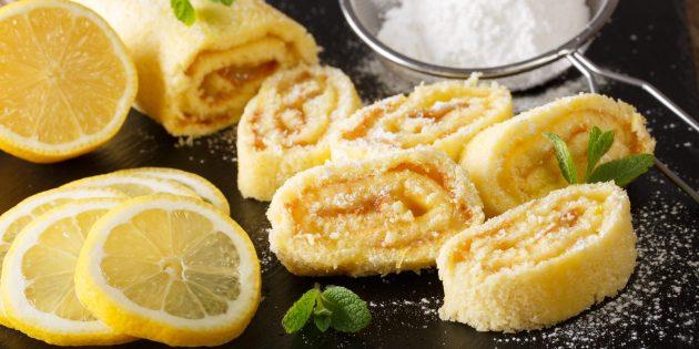 Sådan laver du en kiks rulle med en tørret og citron