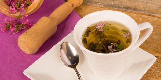 Полезные напитки перед сном: чай из корня валерианы