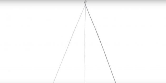 Бес нүктелі жұлдызды қалай салу керек: бұрышта екінші жол қосыңыз