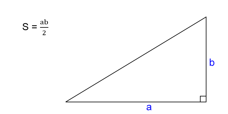 एक सही त्रिभुज का क्षेत्रफल कैसे ज्ञात करें