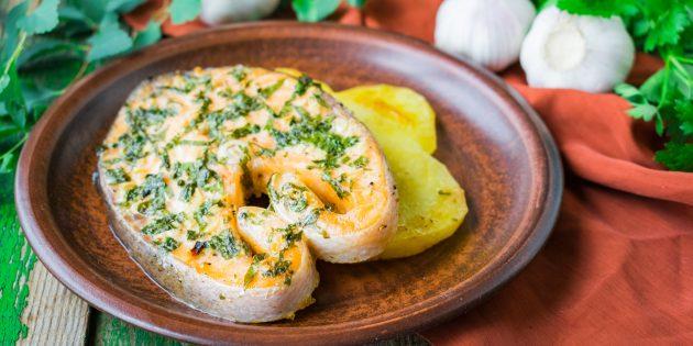 Como cozinhar truta no forno com queijo: receita simples