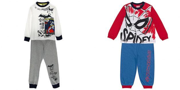 Geschenken voor jongens: pyjama's in de stijl van een geliefde superheld