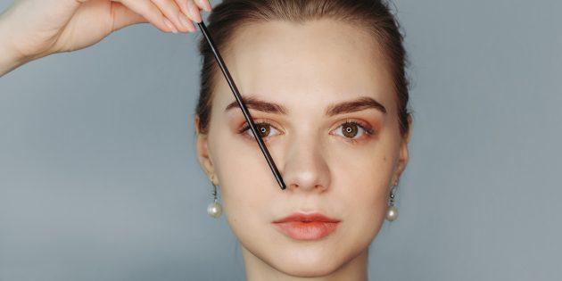 Eyebrows এর আদর্শ ফর্ম: সর্বোচ্চ ভ্রু বিন্দু নির্ধারণ করুন