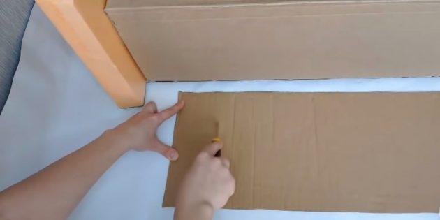 Dekoratif bir şömine nasıl yapılır: kemer için dikdörtgen kemer kesmek
