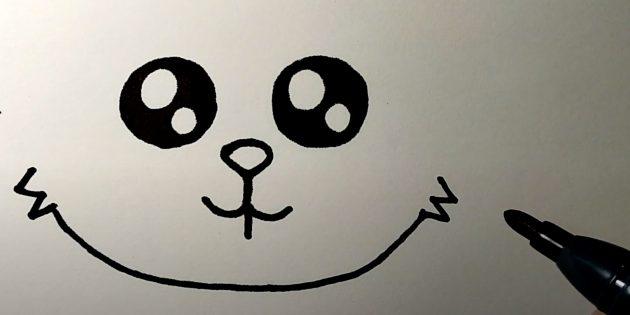 Làm thế nào để vẽ một cái thỏ rừng: hình ảnh cằm