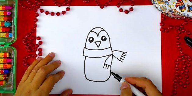 पेंगुइन कैसे आकर्षित करें: शरीर को नोटिस करें