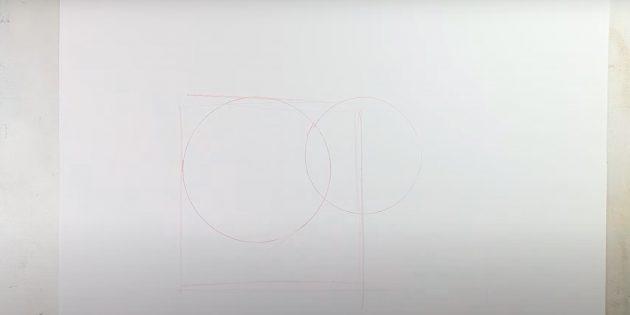 Tegn en anden cirkel