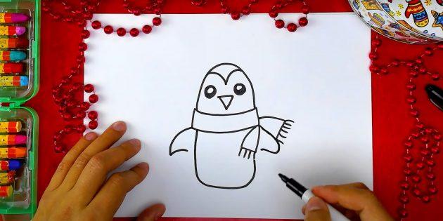 पेंगुइन कैसे आकर्षित करें: पंख ड्रा करें